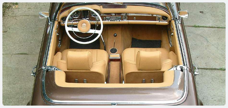 Mercedes Benz Pagode 230sl INTERIOR
